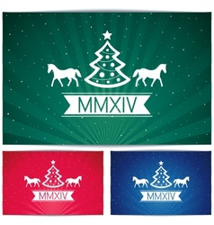 Three Happy christmas eve background vector image vector image