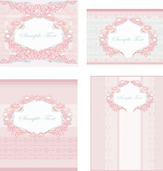 wedding reception card set vector image
