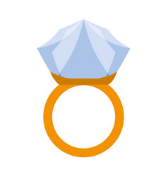 wedding ring isolated vector image vector image