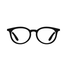 Glasses icon in simple style vector