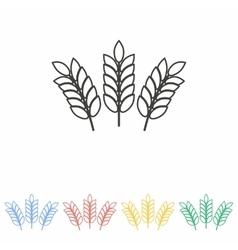 Barley icon vector image