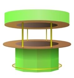 Bar counter green and brown vector image