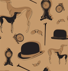 Seamless background with vintage items vector