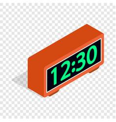 digital clock isometric icon vector image