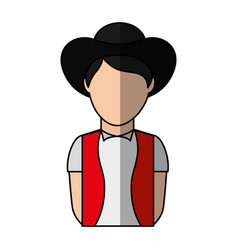 Man with custome typical switzerland vector