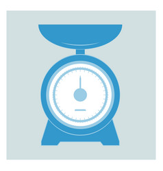 Kitchen scales vector