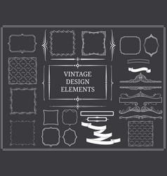 Vintage design elements set vector