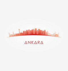 Ankara turkey skyline silhouette vector