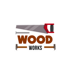 Home repair carpentry woodwork tool icon vector