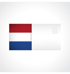 Envelope with dutch flag card vector