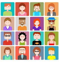 Flat design people icon vector
