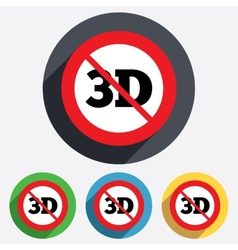 No 3d sign icon 3d new technology symbol vector