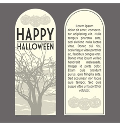 Halloween invitation vector