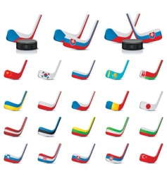 ice hockey sticks count vector