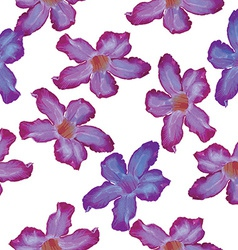 Desert rose lilac flower seamless pattern sketch vector