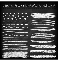 Set of chalk strokes vector image