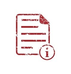 Information document red grunge icon vector