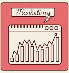 Marketing statistics vector