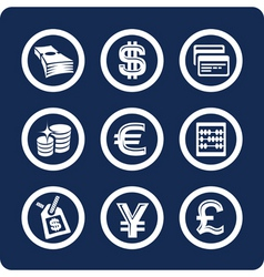 Money and finance icons vector