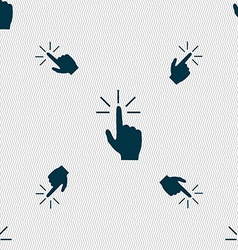 Click here hand icon sign seamless pattern with vector