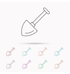 Shovel icon garden equipment sign vector