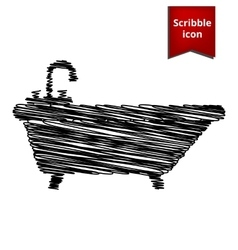 Bathtub icon scribble icon for you design vector