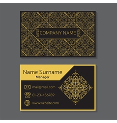Business card editable template include front and vector