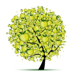 Energy apple tree for your design vector