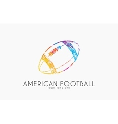 American football ball football ball Ball logo vector image