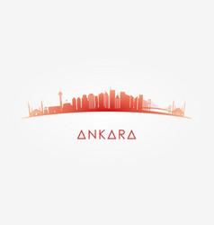 Ankara turkey skyline silhouette vector
