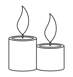Aromatic candles icon outline style vector