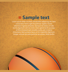 basketball on the floor vector image vector image
