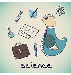 Bird science professor vector