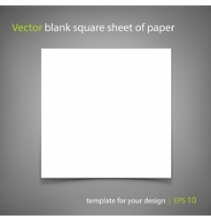 Blank square sheet of paper template for vector