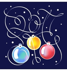 Christmas with lettering in 2017 vector image vector image