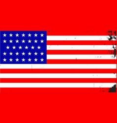 Civil war union flag vector