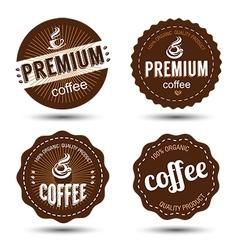 Coffee label 2 vector image