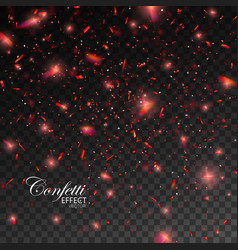confetti glitters vector image vector image