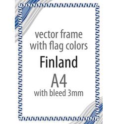 flag v12 finland vector image vector image