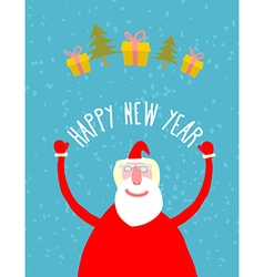 Good Santa Claus with gifts Grandfather with a vector image