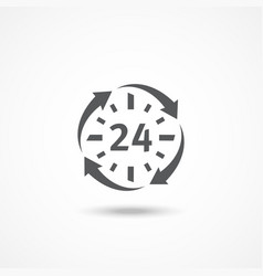 Open 24 hours a day icon vector image