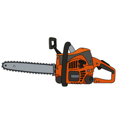 orange motor chainsaw vector image