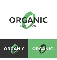organic logo letter o logo logo template vector image vector image