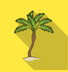 palm beach treesummer rest single icon in flat vector image