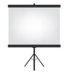 Projector screen black vector image vector image