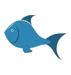 sea fish blue icon vector image vector image