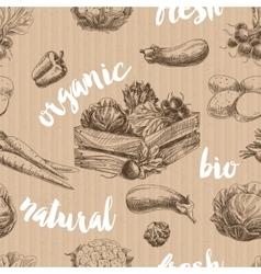 vegetables retro seamless pattern vector image