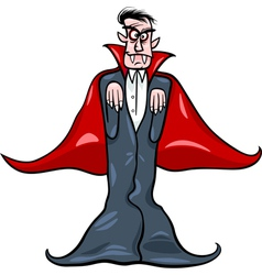 dracula vampire cartoon vector image