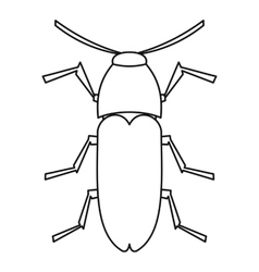 Dung beetle icon outline style vector