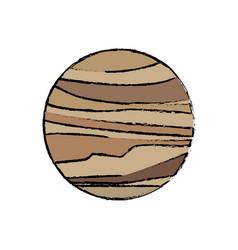Planet venus astronomy universe icon vector
